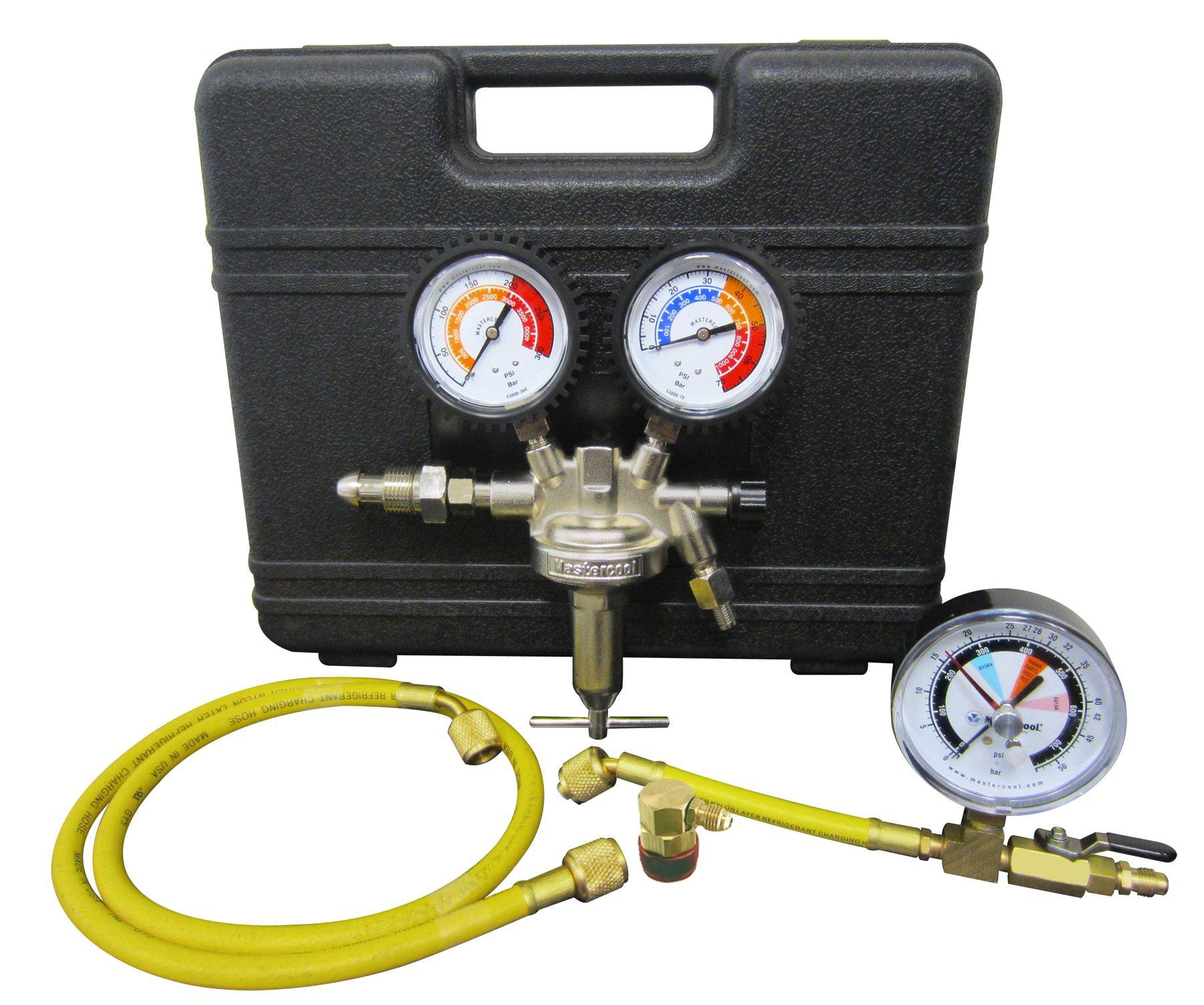 MASTERCOOL (53010-AUT Silver Pressure Test Regulator Kit