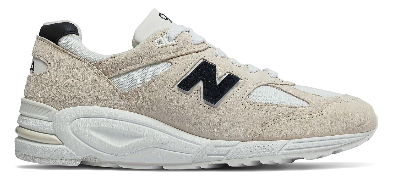 [New Balance(ニューバランス)] 靴シューズ メンズライフスタイル Mens 990v2 Made in US Angora with White and Black ホワイト ブラック US 6 (24cm) B07DMSFQNG