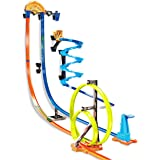 Hot Wheels Track Builder Vertical Launch Set 50 Inches High 3 Stunt Configurations Ages 6 to 10 3M Command Strips