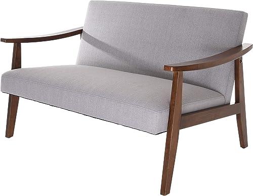 Zenvida Mid Century Loveseat Modern Living Room Sofa