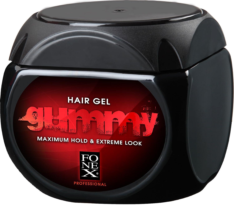 GUMMY ORIGINAL HAIR STYLING GEL ML BY FONEX NO BARBER STYLING - Hair gel