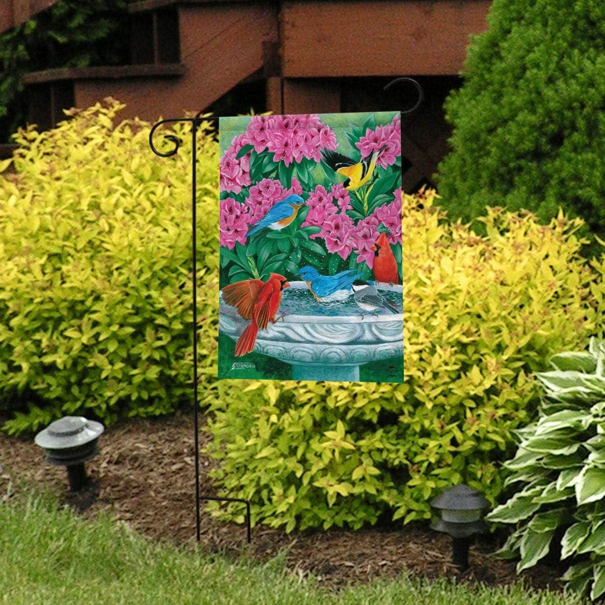 Briarwood Lane Splish Splash Birdbath Spring Garden Flag Birds Floral 12.5x18