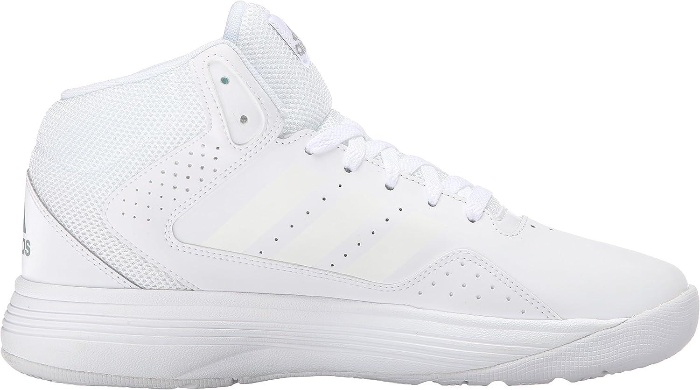 adidas Performance Men's Cloudfoam Ilation Mid Basketball Shoe White/White/Clear Onix Grey