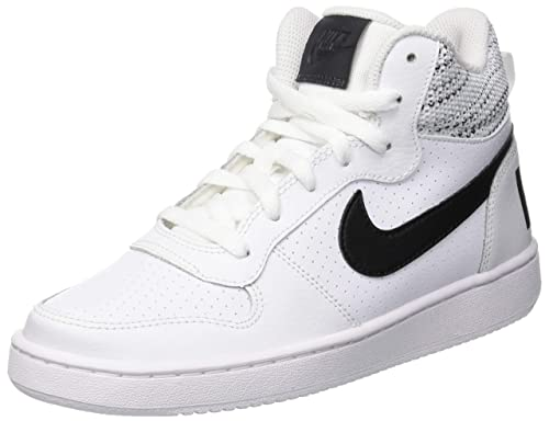 Nike Court Borough Mid Se (GS), Zapatos de Baloncesto para Niños
