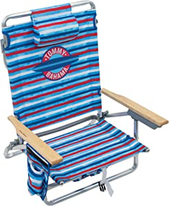 Tommy Bahama 5-Position Classic Lay Flat Folding Backpack Beach Chair