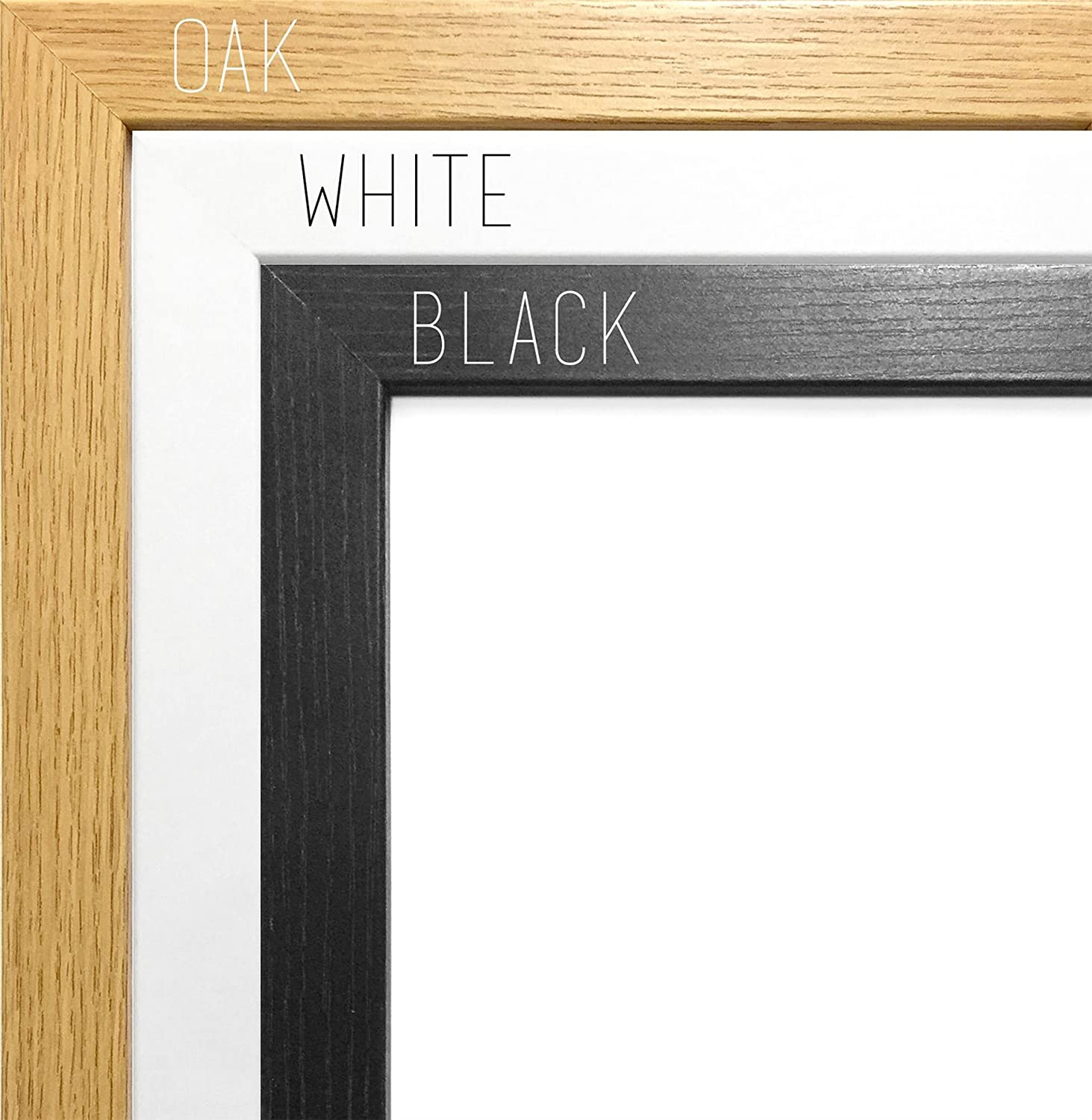 12X9 BLACK COLOUR MODERN BOX FRAMES WOOD FINISH PHOTO PICTURE POSTER ...
