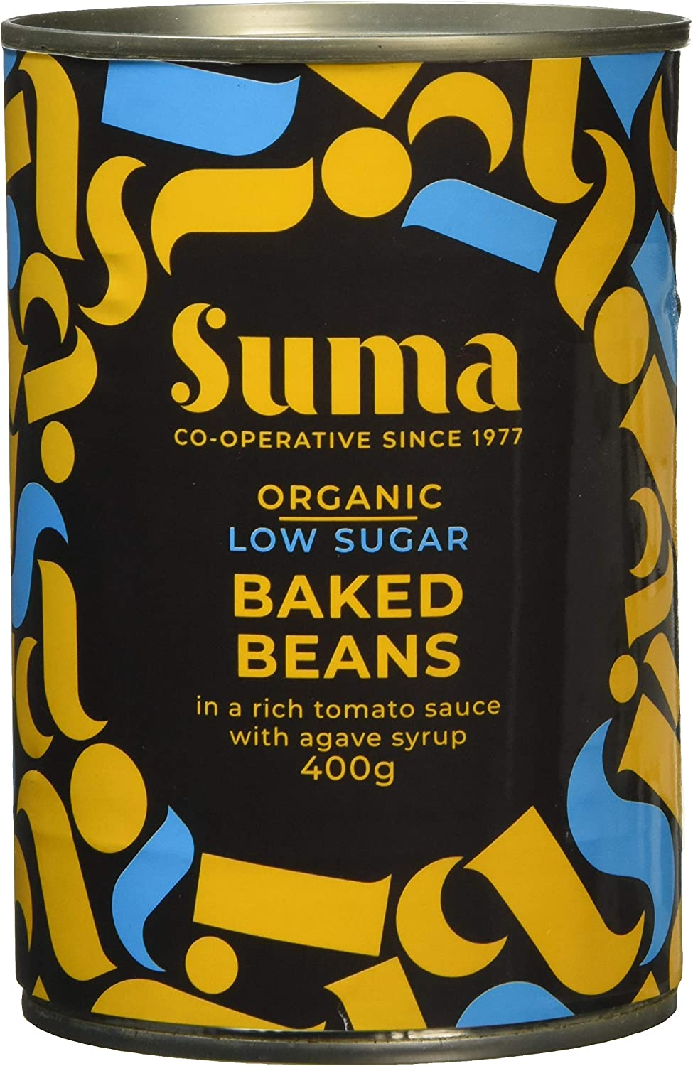 Suma Organic Low Sugar Baked Beans 400g (Pack of 12)