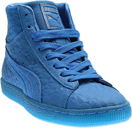 PUMA Mens Suede Mid Me Iced Casual Sneakers,