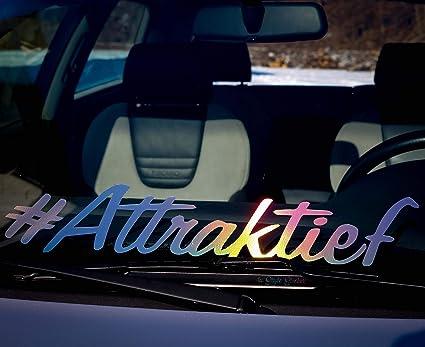 Attraktief Aufkleber Frontscheibe Auto Aufkleber Hologramm Oil Slick Autoscene öl Sticker