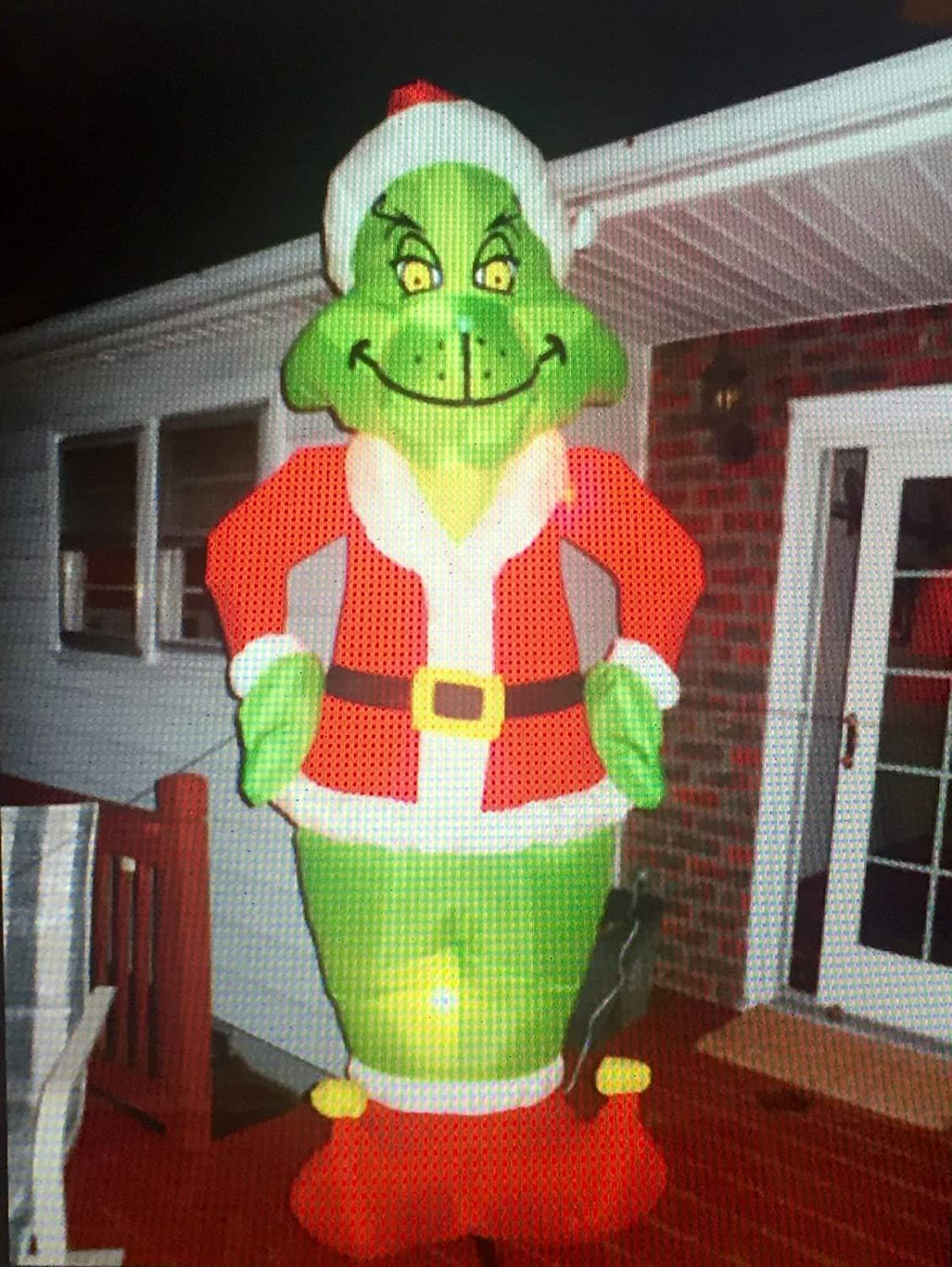 Like New Inflatable Grinch 7 Feet christmas Decoration Gemmy