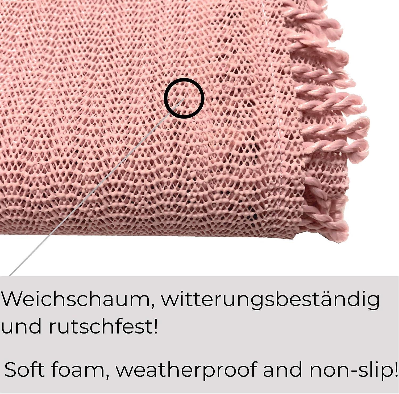 Jemidi Garden Table Cloth Weatherproof Round or Square Tablecloth Garden Table Weatherproof