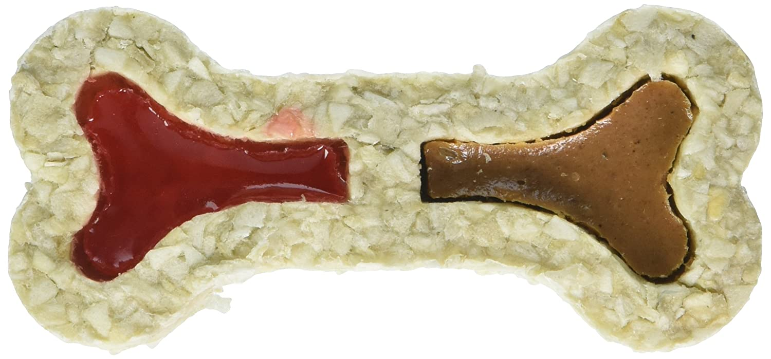 Red Barn Peanut Butter and Jelly Filled Rawhide Bone Case of 24