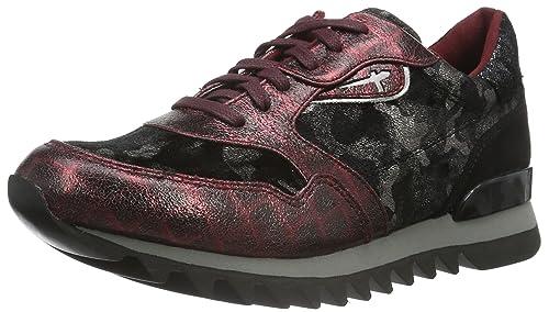 23610, Zapatillas para Mujer, Rojo (Bordeaux Comb 550), 36 EU Tamaris