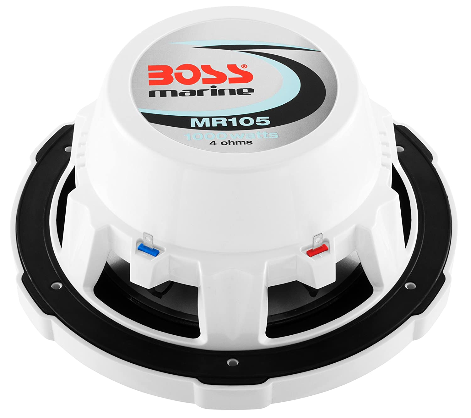 Single 4 Ohm Voice Coil 10 Inch Sold Individually BOSS Audio MR105 Marine Subwoofer Easy Mounting 1000 Watts Maximum Power