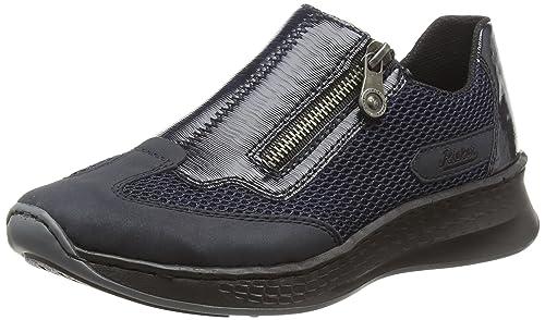 Rieker N5653, Zapatillas sin Cordones para Mujer: Amazon.es: Zapatos y complementos