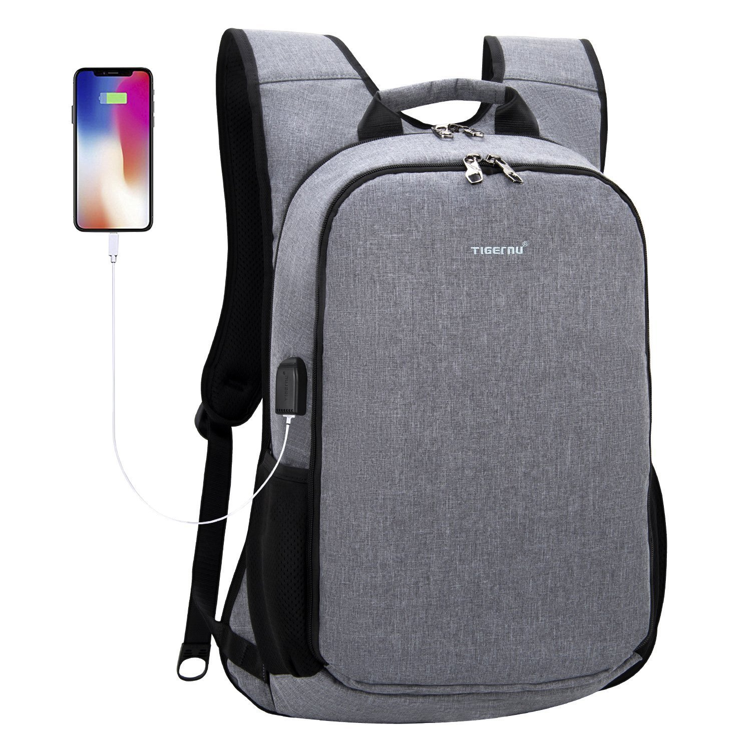 b3b0122a48 Amazon.com  TIGERNU Laptop Backpack for 15.6 17 Inch Laptops Notebook with  Shockproof Pad XL Extra Large Big Business Travel Backpack with USB  Charging ...