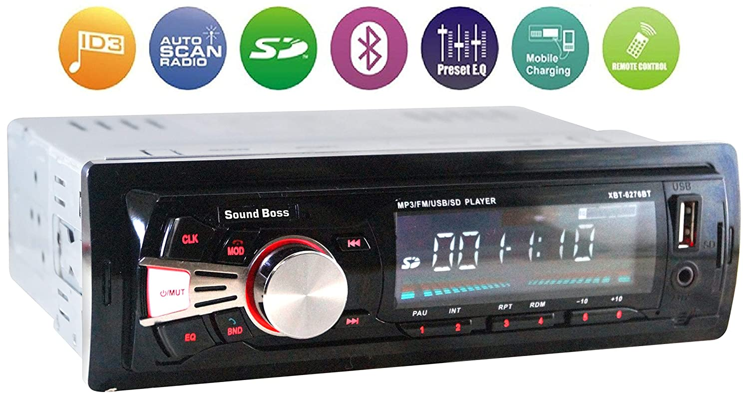 Sound Boss Sb 48 Car Stereo With Bluetooth Amazonin Electronics