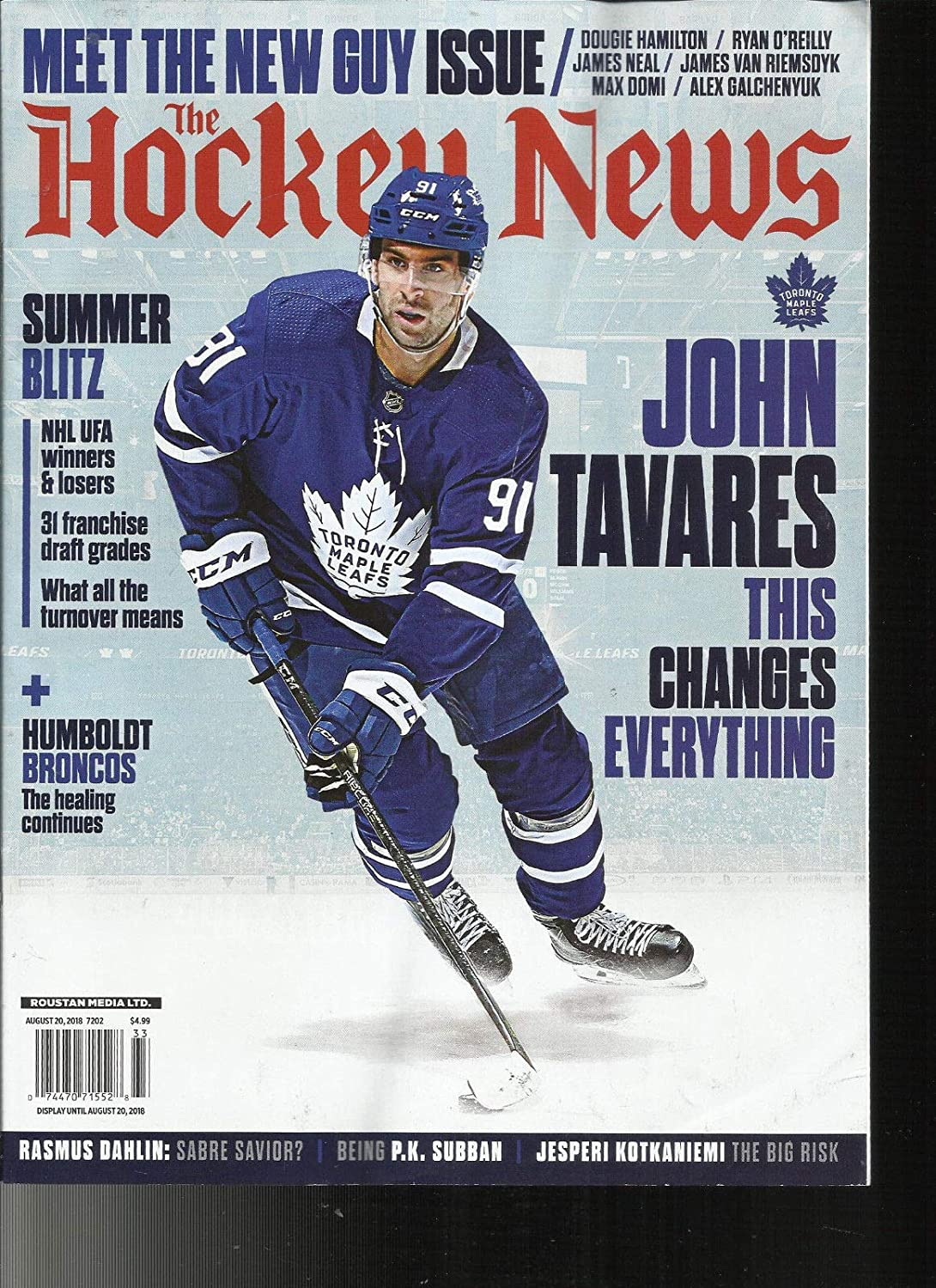 THE HOCKEY NEWS MAGAZINE, MEET THE NEW GUY ISSUE, AUGUST, 2018 s3457