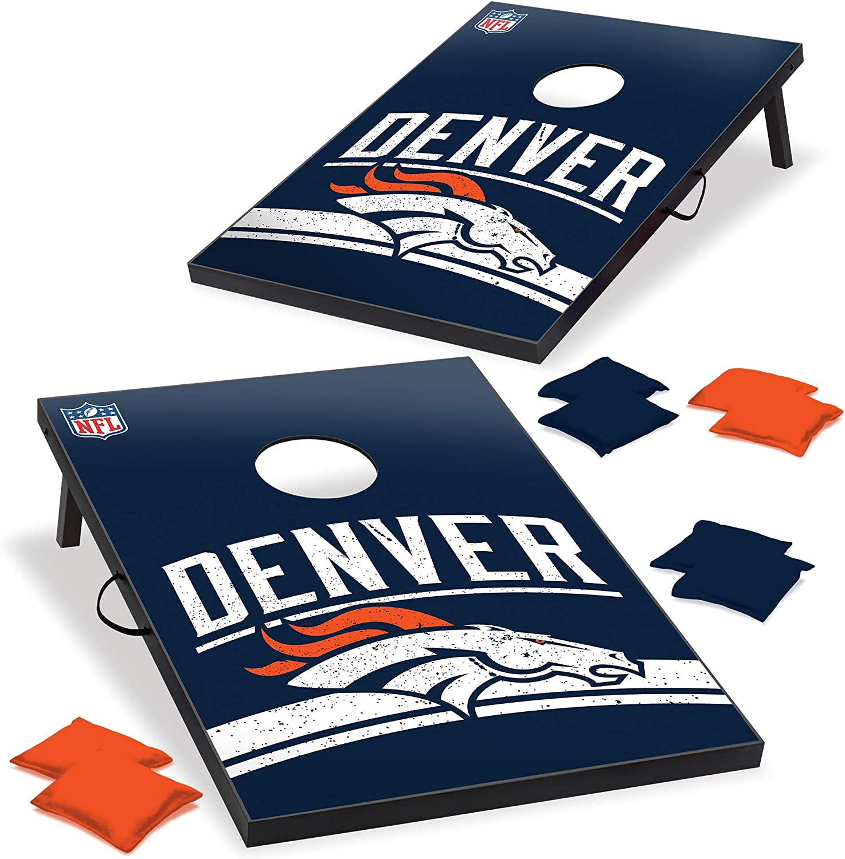 Wild Sports NFL Denver Broncos Cornhole Outdoor Game Set, 2' x 3', Blue, One Size (1-1-16023-TJ109WD) : Sports & Outdoors
