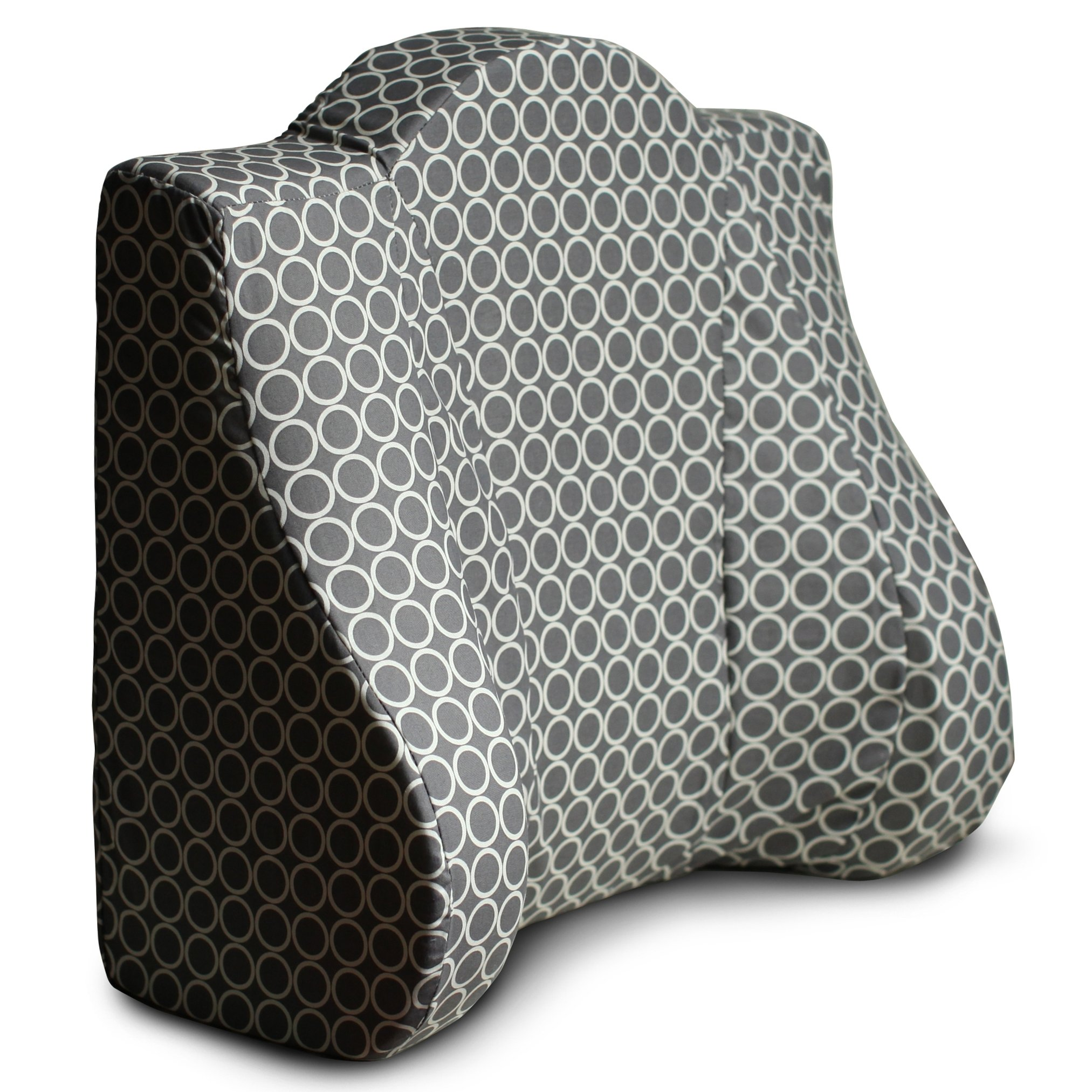 Back Buddy Original Support Pillow for Pregnancy, Postpartum, and Feeding - Gianna (Grey Circle)