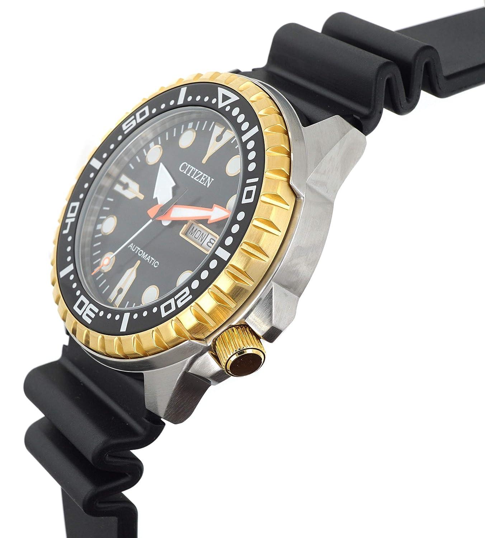 Reloj CITIZEN an8384 - 14E automático de goma Negro Day Date: Amazon.es: Relojes