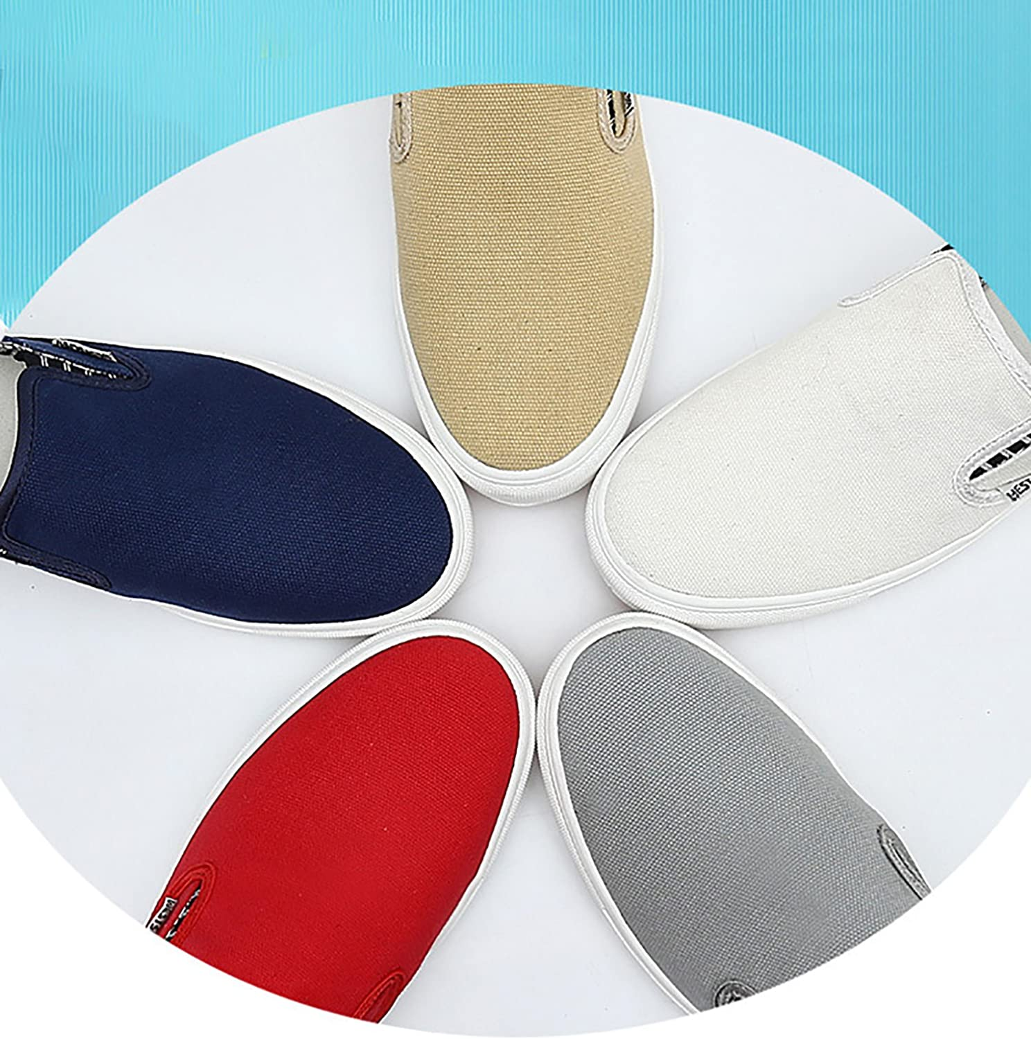 Odema Mens Driving Casual Slip On Loafers Canvas Shoes Fashion Sneakers