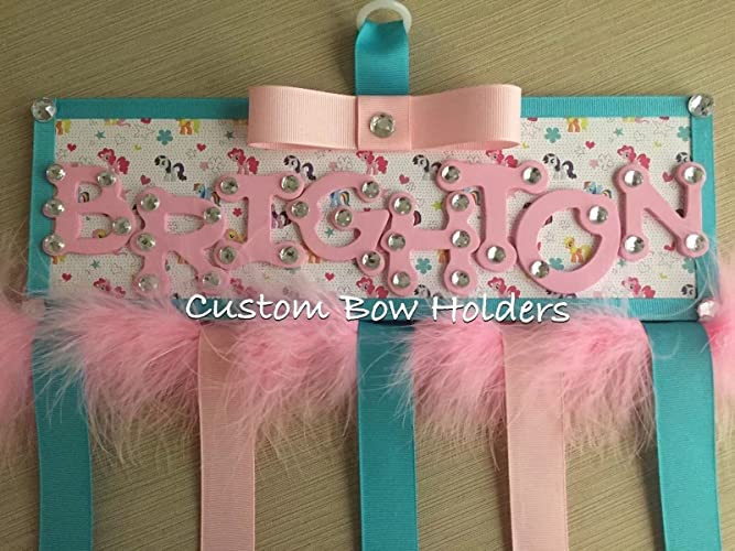 amazon com hair bow holder my little pony any name handmade