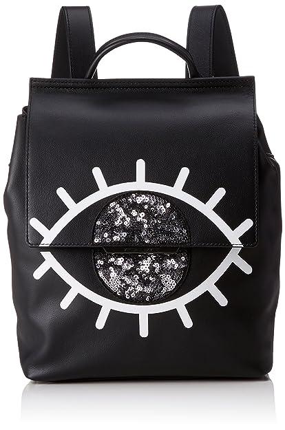 Annabelle, Womens Backpack, Schwarz (Black - White), 12x26x22 cm (B x H T) Kendall + Kylie