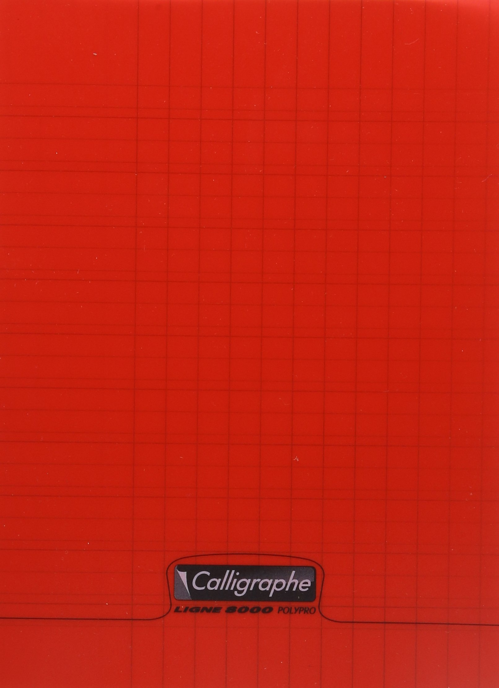 Clairefontaine 170 x 220 mm Polypro Stapled Writing Notebook, Seyes Ruled, Red, 32 Pages