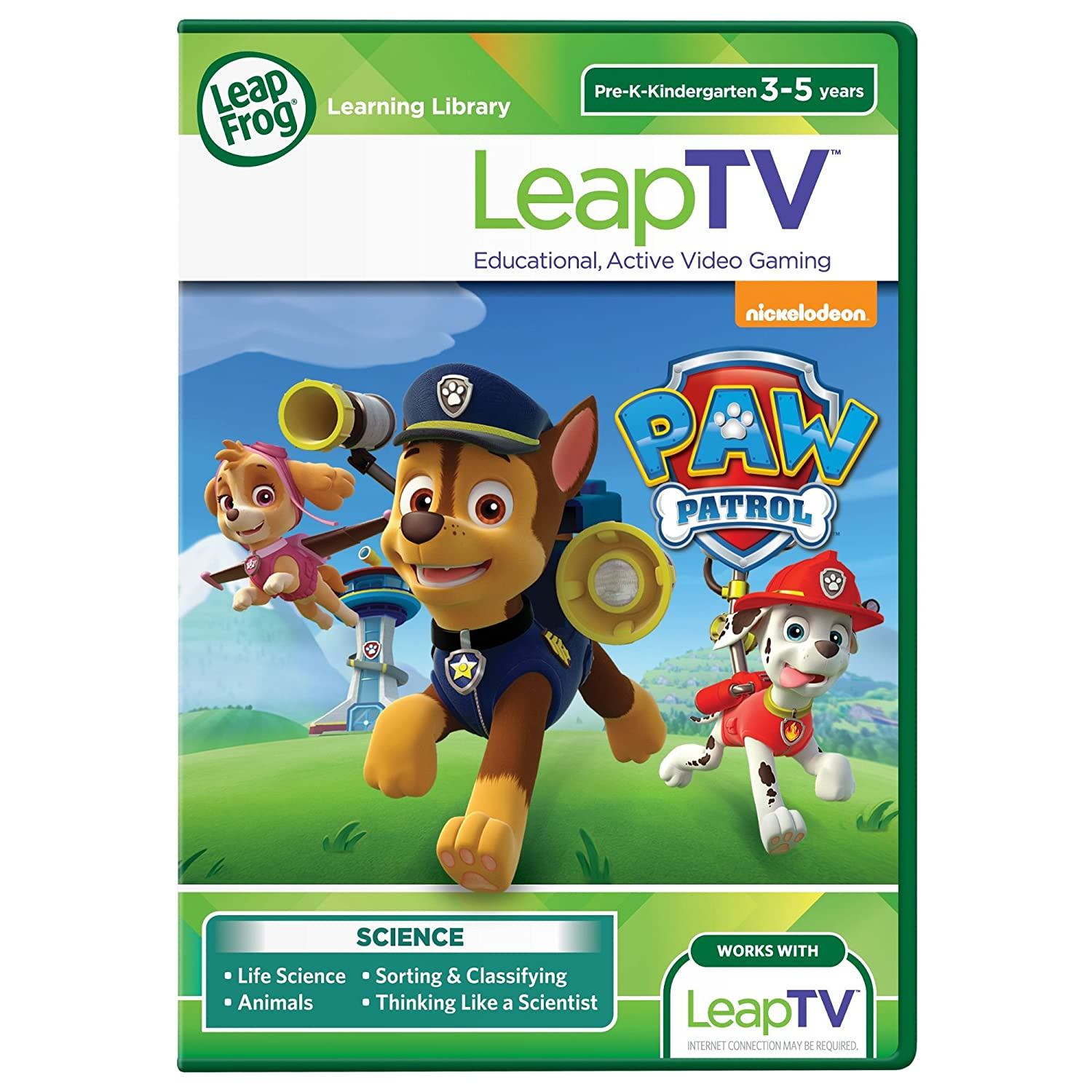 LeapFrog LeapTV PAW Patrol Storm Rescuers Educational Active Video Game