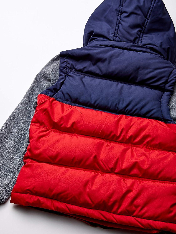 US Polo Association Boys Big Bubble Jacket 14//16 Fleece Sleeves red