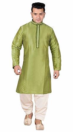 Desi Sarees Hombres Contraste Kurta Salwar Kameez Pijama Sherwani ...