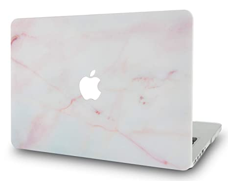 "KECC MacBOok Air 13"" Retina Funda (2019/2018, Touch ID) Dura Case Cover MacBook Air 13.3 Ultra Delgado Plástico {A1932} (Mármol Rosado)"
