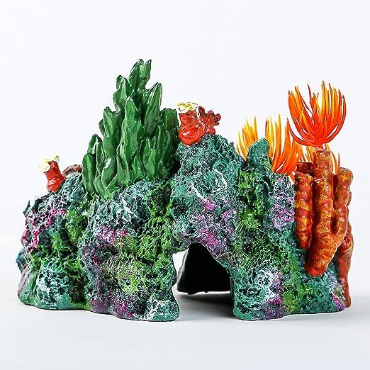 Amazon.com : SLSON Aquarium Coral Rock Decoration Vivid Mountain Cave Environments Ornaments Fish Tank Resin Deorations : Pet Supplies