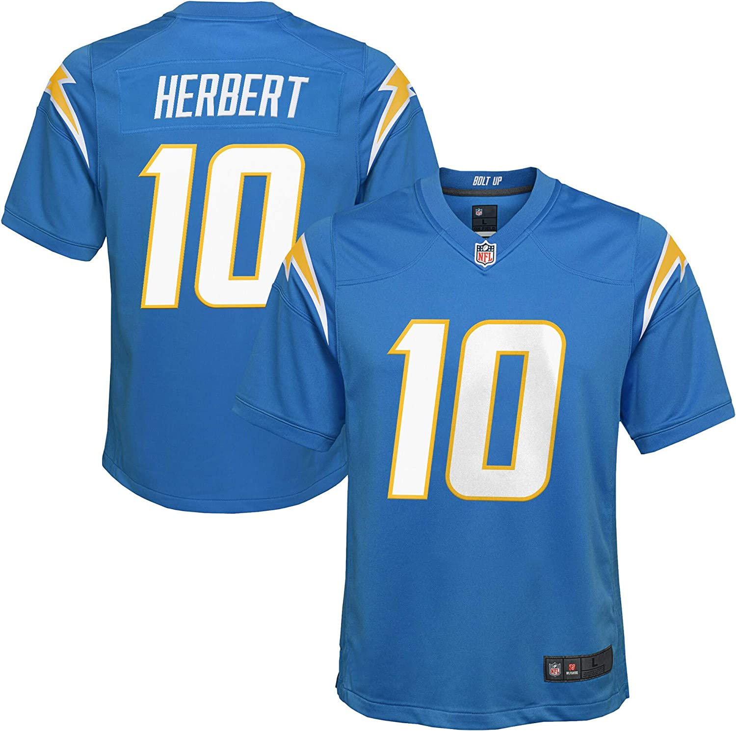 Justin Herbert Los Angeles Chargers #10 Blue Youth 8-20 Alternate Game Day Player Jersey