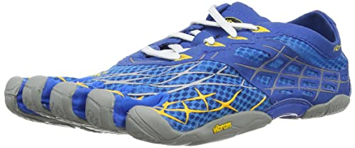 Vibram Five Fingers Seeya LS M, Zapatillas de Running para Hombre, Blue/Yellow/Grey, 6.5 UK: Amazon.es: Zapatos y complementos