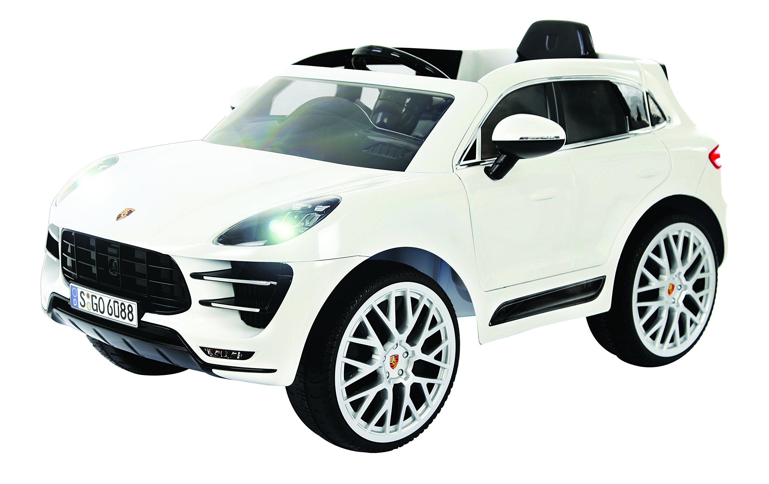 Rollplay Porsche Macan 6-Volt Battery-Powered Ride-On, White