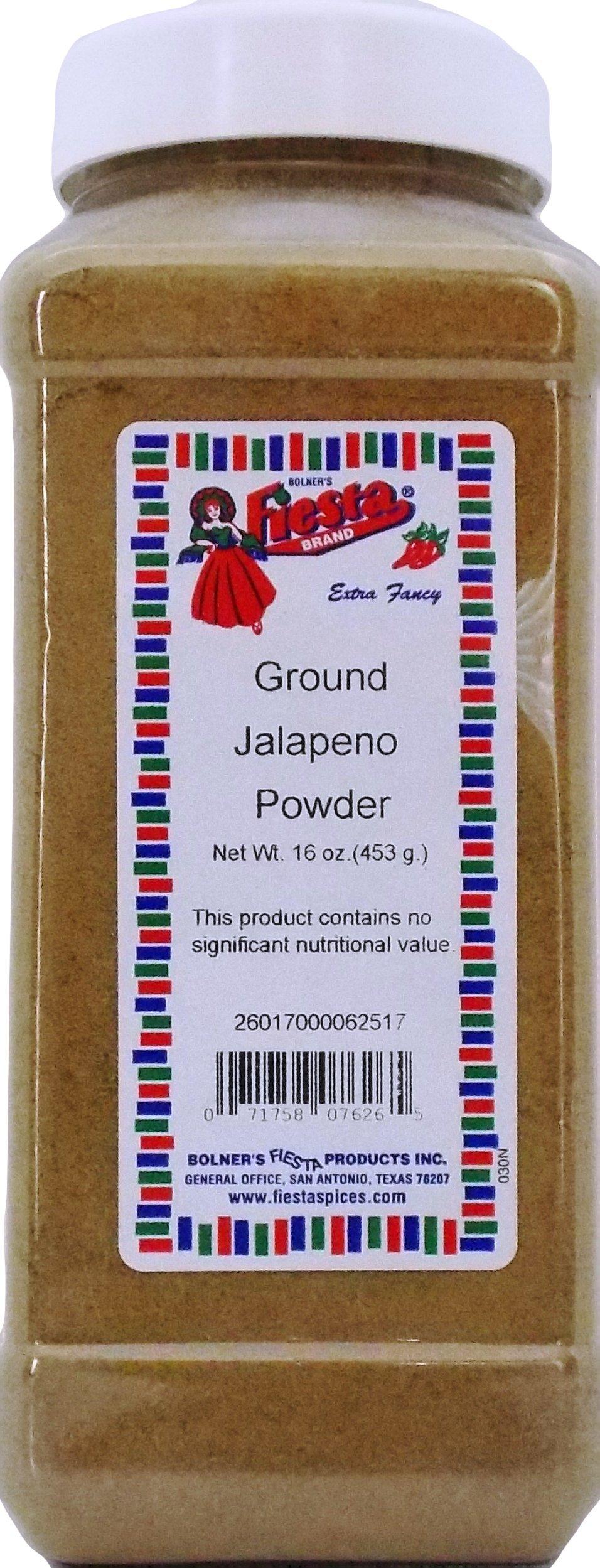 Bolner's Fiesta Extra Fancy ''Texas TNT'' Ground Jalapeno Pepper Powder, 16 Oz.