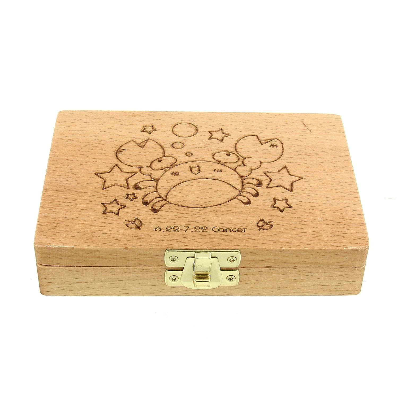 Zodiac Baby Wooden Tooth Box- Enlgish Version by CFG ONLINE   B018PWWEGW