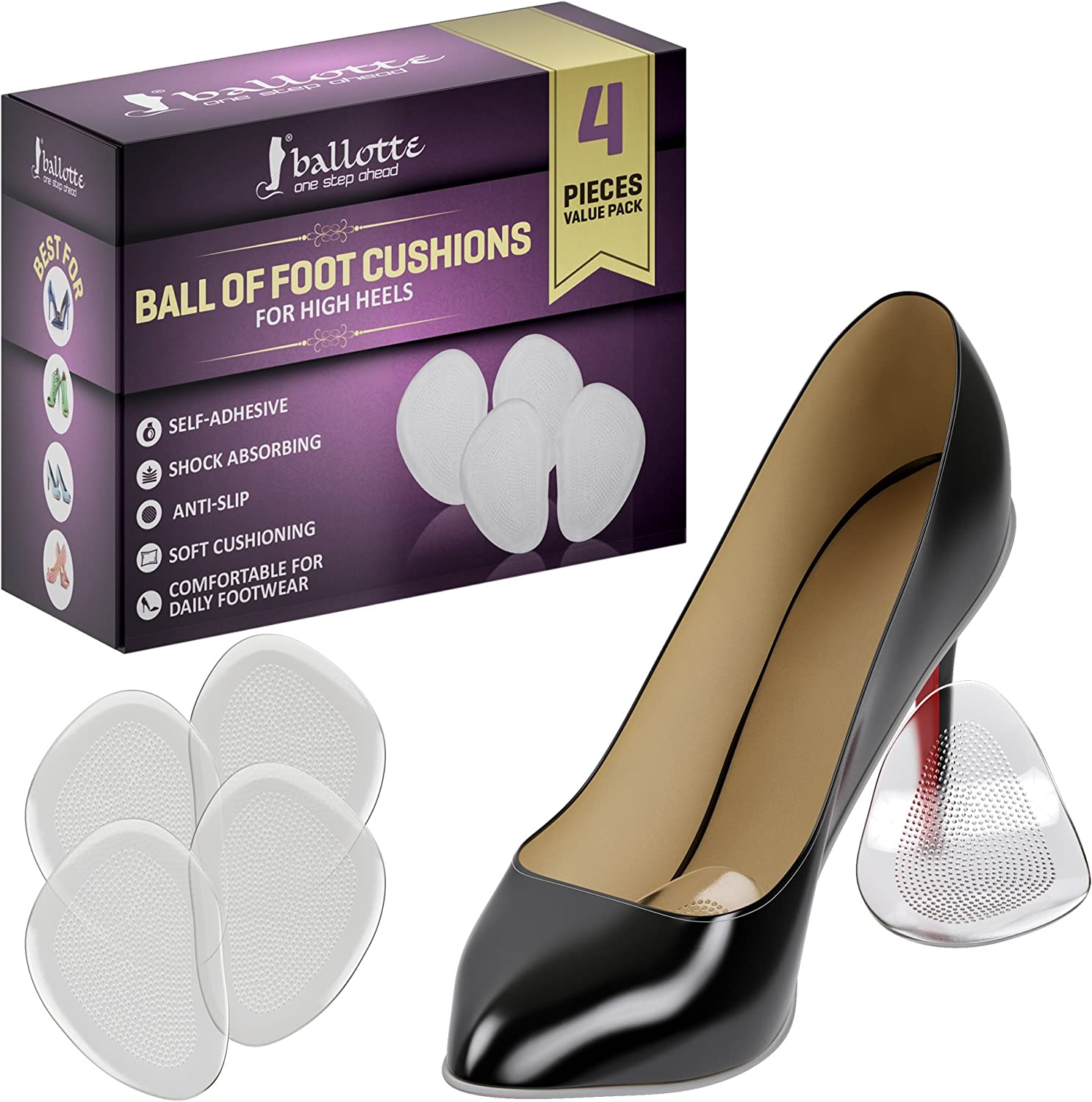Insole Pads High Heel Gel Foot Care Protector Anti Slip Cushion Shoe Insert