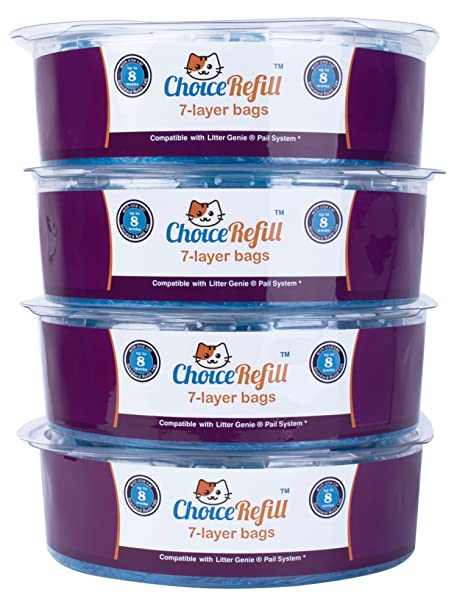 Amazon Choicerefill Compatible With Litter Genie Pail 4 Pack