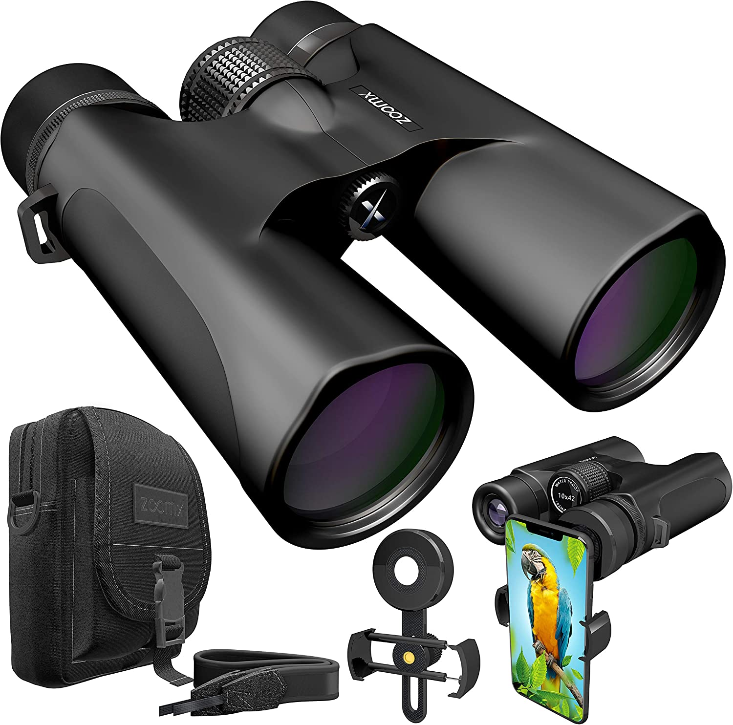 ZoomX Binoculars for Adults - 10x42 X-007