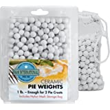 Ceramic Pie Weights. 1lb. with Mesh Storage Bag