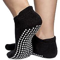 Skyba Chaussettes antidérapantes de l'adhérence pour Le Yoga, la méthode Pilates, la Barre, Le Ballet et la maternité [3 Tailles]