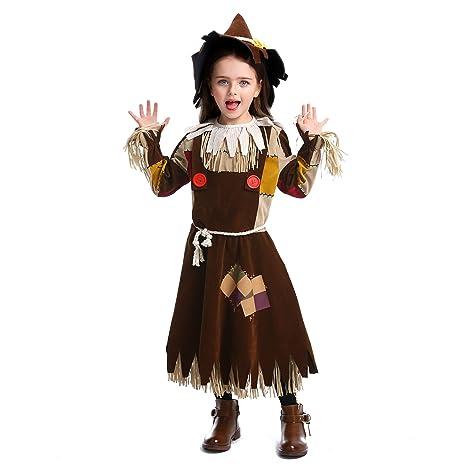 LOLANTA Traje de Espantapájaros Disfraz de Mago de Oz de Halloween ...
