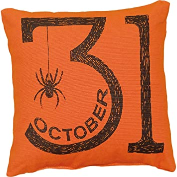 primitives by kathy halloween or oct 31st throw pillow 10 inch square - Primitives By Kathy Halloween