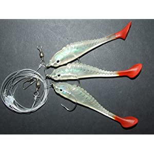 MagiDeal 6Pcs Octopus Lure Fishing Squid Lure Skirt Gow In The Dark 16cm