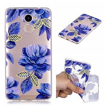 Qiaogle Funda Huawei Enjoy 7 Plus / Y7 Prime - Funda de TPU Silicona Carcasa Case Cover para Huawei Enjoy 7 Plus / Y7 Prime (5.5 Pulgadas) - HX96 / ...