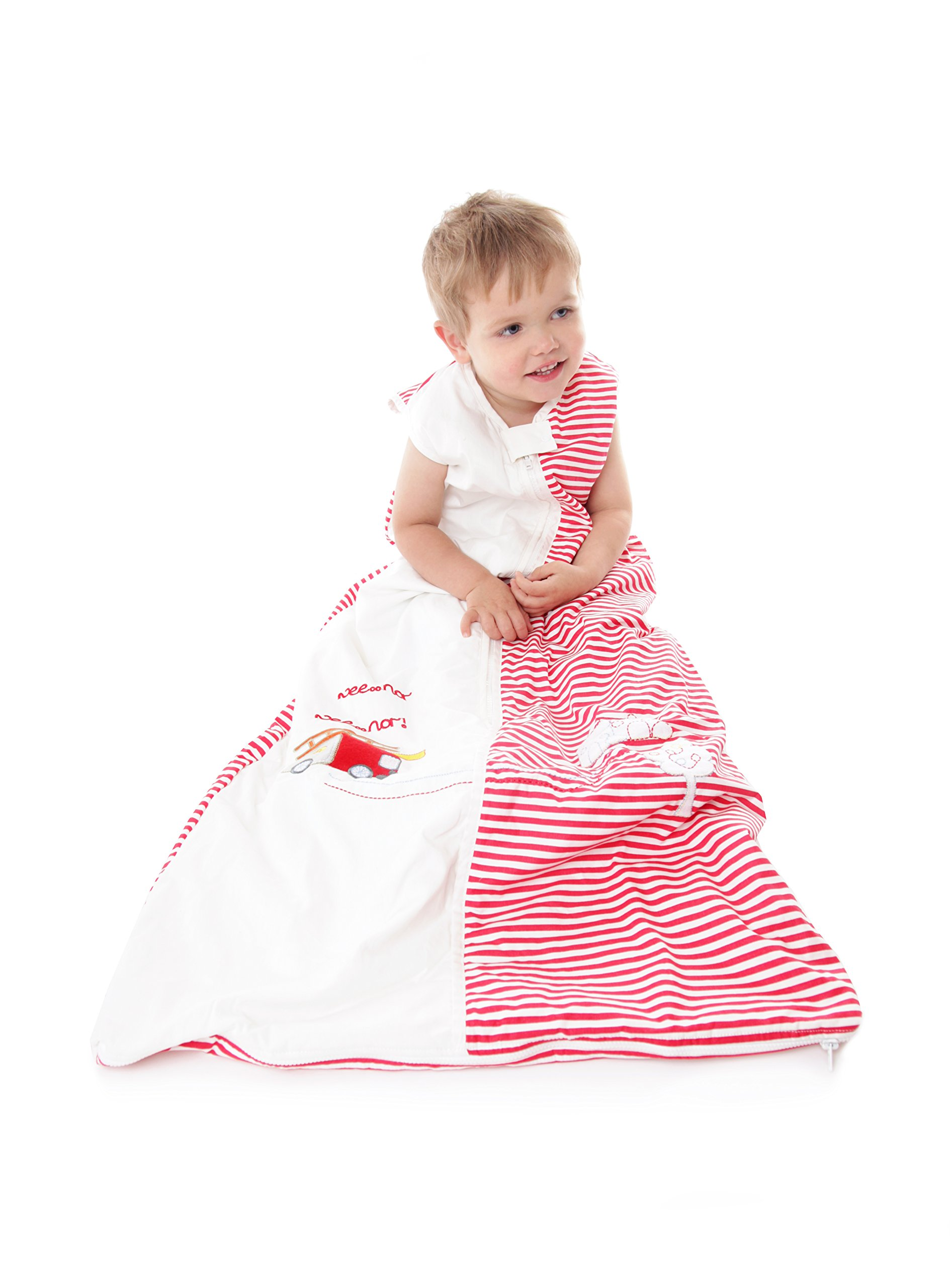 Slumbersafe Toddler Sleeping Bag 2.5 Tog - Fire Engine, 18-36 months/LARGE