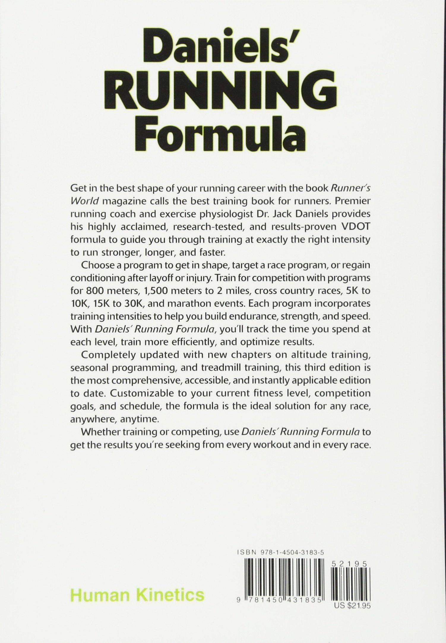daniels running formula 3rd edition jack daniels